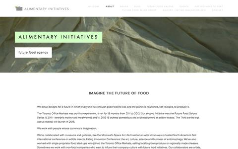 Screenshot of About Page alimentaryinitiatives.com - Alimentary initiatives Ń Alimentary Initiatives - captured Dec. 24, 2015
