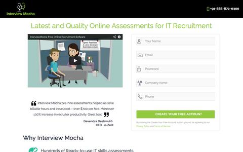 Screenshot of Signup Page interviewmocha.com - Interview_Mocha_Create_Free_Account - captured Sept. 30, 2014