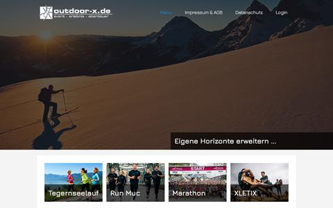 Screenshot of Home Page outdoor-x.de - Outdoor-X - Home - captured June 9, 2018