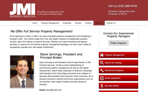 Screenshot of About Page jmips.com - About Us | JMI Real Estate Services - captured Feb. 11, 2016