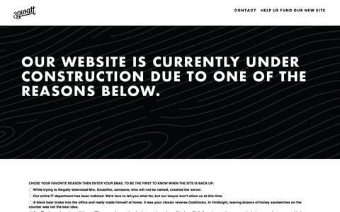 Screenshot of Home Page 30watt.com - Makers of Amusing - captured Oct. 20, 2018