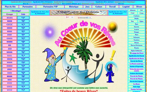 Screenshot of Home Page signification-reve.com - Signification Rêve:Dictionnaire des rêves - captured Sept. 18, 2014
