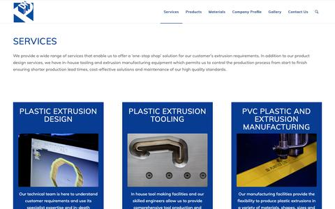 Screenshot of Services Page dwplastics.co.uk - Our Services - DW Plastics - captured Sept. 28, 2018