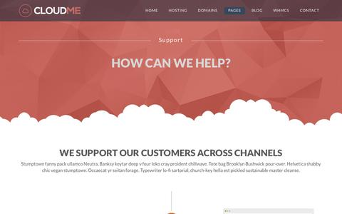 Screenshot of Support Page purebox.net - Support – Purebox - captured July 9, 2016