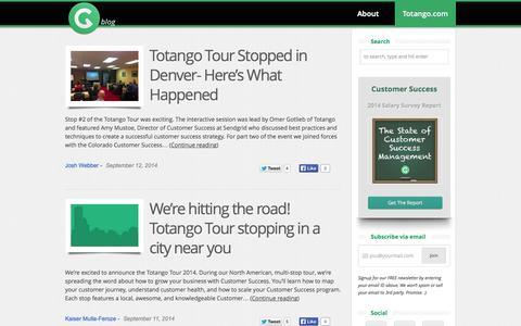 Screenshot of Blog totango.com - Totango Blog - captured Sept. 17, 2014
