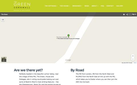 Screenshot of Maps & Directions Page thegreencornwall.co.uk - Directions | The Green Cornwall - captured Nov. 3, 2014