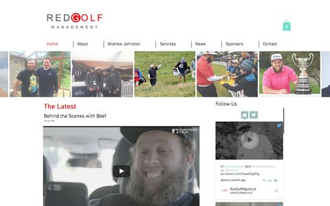 Screenshot of Home Page redgolf.co.uk - Red Golf, Golf Management, London - captured Dec. 18, 2016