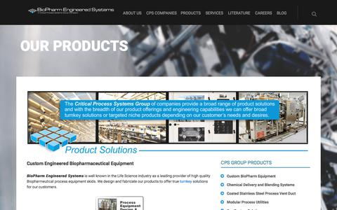 Screenshot of Products Page bpesys.com - Products | Custom Engineered Biopharmaceutical Equipment| - captured Oct. 10, 2017