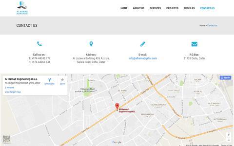 Screenshot of Contact Page alhamadqatar.com - Al Hamad |   Contact us - captured Nov. 20, 2016