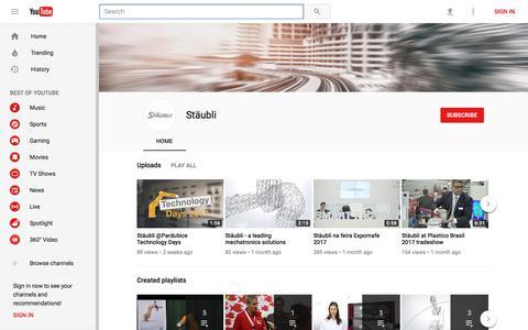 Stäubli - YouTube
