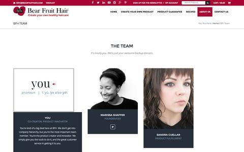 Screenshot of Team Page bearfruithair.com - BFH Team | Bear Fruit Hair - captured Nov. 22, 2016