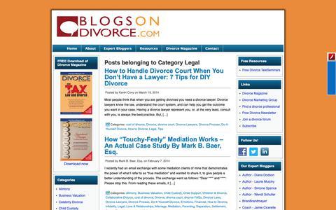 Screenshot of Terms Page blogsondivorce.com - Legal | Blogs On Divorce - captured Oct. 22, 2018
