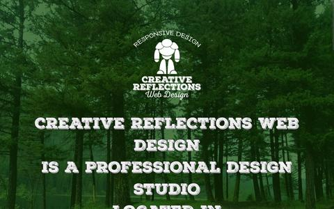 Screenshot of About Page creativereflectionswebdesign.com - About Us | Creative Reflections Web Design - captured July 17, 2016