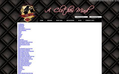 Screenshot of Site Map Page aclothesmind.com captured Sept. 27, 2014