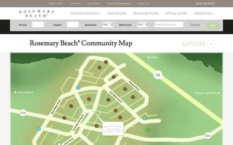 Screenshot of Maps & Directions Page rosemarybeach.com - Rosemary Beach® Community Map - captured Feb. 24, 2016