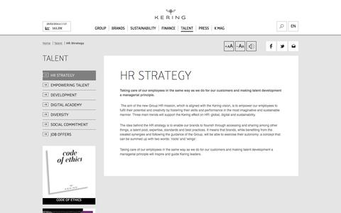 HR Strategy | Kering