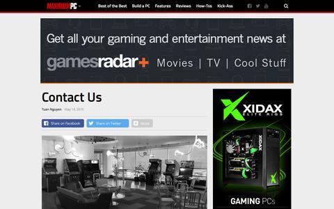 Screenshot of Contact Page maximumpc.com - Contact Us - Maximum PC - captured Jan. 9, 2016