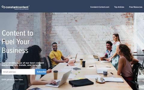 Screenshot of Blog constant-content.com - Constant Content   The Constant Content Blog - captured Jan. 21, 2020