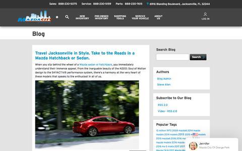 Screenshot of Blog mazdacity.com - Blog Post List | Mazda City of Orange Park - captured July 4, 2018