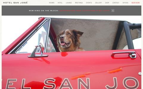 Screenshot of Home Page sanjosehotel.com - Home | Hotel San Jose, Austin - A South Congress Hotel - captured Oct. 4, 2016