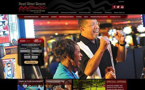 Screenshot of Press Page pearlriverresort.com - Pearl River Resort | Media and Digital Press | Choctaw, MS - captured Oct. 28, 2014