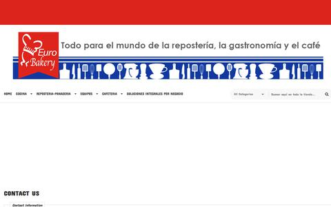 Screenshot of Contact Page eurobakery.com.mx - Contact Us - captured July 21, 2018