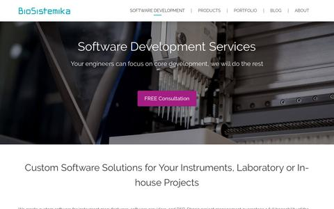 Screenshot of Services Page biosistemika.com - Software Development Services and Software Testing - BioSistemika - captured Aug. 2, 2018