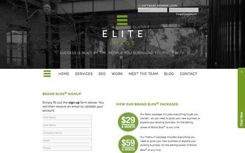 Screenshot of Trial Page eliteimage.ca - Elite Image Graphic Design, Marketing, Website, Software and Print Services - captured Nov. 5, 2016