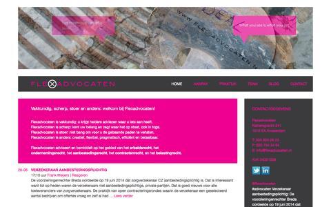Screenshot of Home Page flexadvocaten.nl - Flexadvocaten - captured Sept. 30, 2014