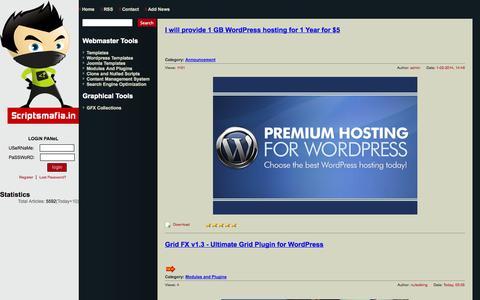 Screenshot of Home Page scriptsmafia.in - Scriptsmafia.in  free download premium templates plugins scripts - captured Sept. 23, 2014