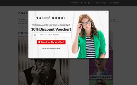 Screenshot of Blog nakedspecs.com - Prescription Glasses Online | Sunglasses Blog | Naked Specs - captured Sept. 19, 2014