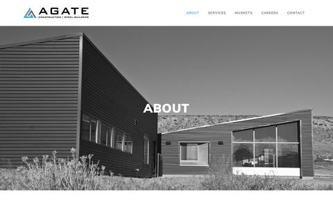 Screenshot of About Page agateinc.com - About Agate Inc. Construction | General Contractor - Agate - captured Nov. 6, 2018