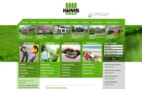 Screenshot of Home Page hvms.nl - | HVMS - captured Oct. 1, 2014