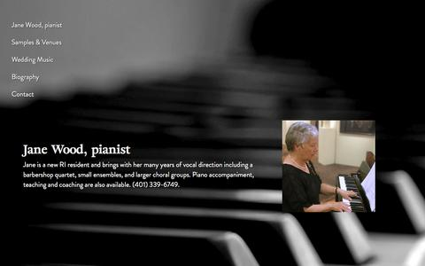 Screenshot of Home Page keyboardstyling.com - Jane Wood, piano player for hire for functions and weddings - Rhode Island - captured July 1, 2018