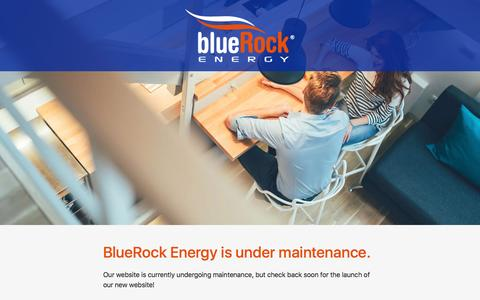 Screenshot of Home Page bluerockenergy.com - BlueRock Energy | Under Maintenance - captured Feb. 26, 2017