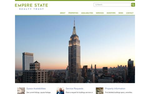 Screenshot of Home Page empirestaterealtytrust.com - Home / Empire State Realty Trust - a leading real estate investment trust (REIT) - captured July 18, 2018