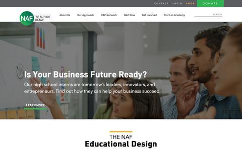 Screenshot of Home Page naf.org - Homepage - NAF - captured Nov. 15, 2017