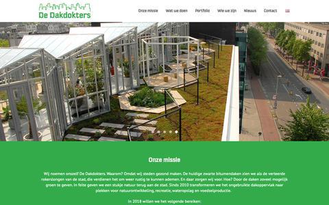 Screenshot of Home Page dakdokters.nl - De Dakdokters - Wij maken de stad gezond! - captured Nov. 13, 2018