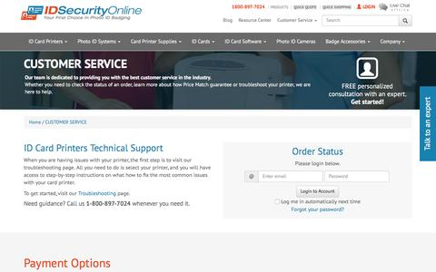 Screenshot of Privacy Page Support Page idsecurityonline.com - CUSTOMER SERVICE | IDSecurityOnline - captured Dec. 9, 2015