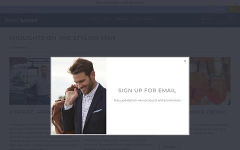 Screenshot of Press Page scottbarber.com - Thoughts On The Stylish Man - Scott Barber - captured Oct. 2, 2018