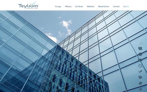 Screenshot of Home Page teyliom.com - Teyliom / Tomorrow is now - captured Oct. 6, 2014