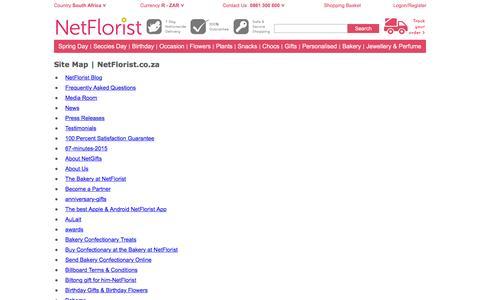 Site Map | NetFlorist.co.za