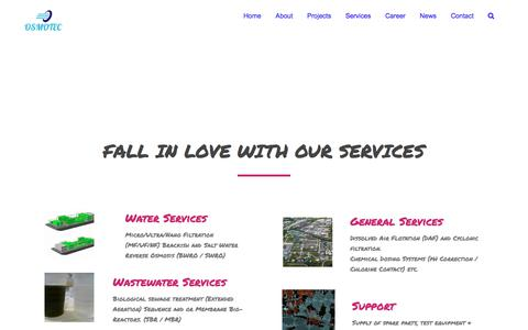 Screenshot of Services Page osmotec.com.au - Services – OSMOTEC - captured Sept. 21, 2018