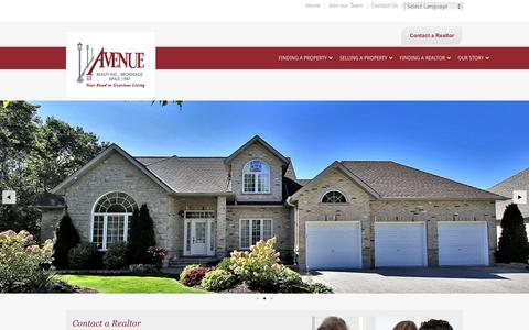 Screenshot of Home Page avenuerealty.com - Avenue Realty Inc. - Brokerage Since 1987 - captured Feb. 6, 2016