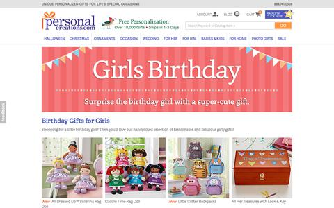 Personalized Birthday Gifts for Girls from Personal Creations