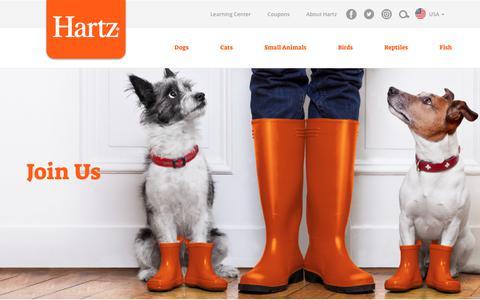 Screenshot of Jobs Page hartz.com - Careers – Hartz - captured July 11, 2017