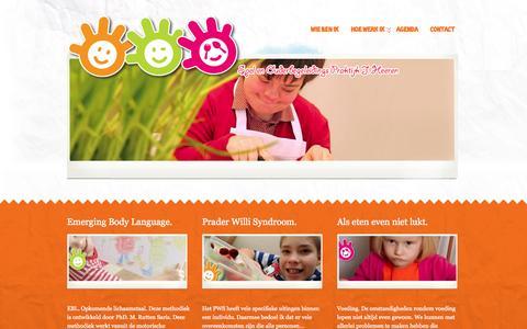 Screenshot of Home Page play4kids.nl - play4kids - Therapie en ondersteuning voor elk individu vanuit een persoonlijk plan - captured Oct. 7, 2014