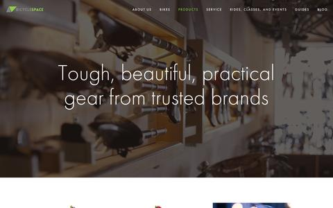 Screenshot of Products Page bicyclespacedc.com - Products — BicycleSPACE - captured Feb. 7, 2016