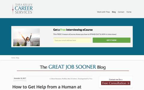 Screenshot of Blog theakelley.com - Blog | Thea Kelley Career Services - captured Nov. 17, 2017