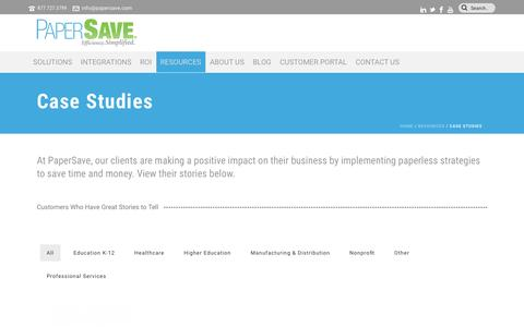 PaperSave Case Studies by Industry | PaperSave